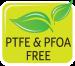 Bezpečný materiál bez použití PFOA a PTFE - žádné toxické látky